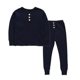$enCountryForm.capitalKeyWord UK - 5 Colors Baby Pyjamas Kids Girls Clothes Boy Solid Sleepsuit Long Sleeve Tops +Pants Outfits Girl Sleepwear Nightwear Baby Kids Clothing Set
