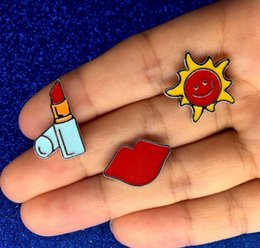 $enCountryForm.capitalKeyWord Australia - Fashion Lovely Ornaments pin cute Lipstick Red Lips Mustache The Sun Brooch Cute Cartoon Brooches Pins Colthing Accessories drop shipping