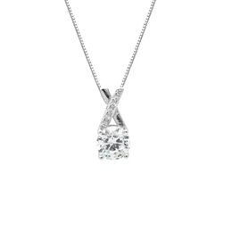 Simple model necklace online shopping - S925 sterling silver cross zircon pendant Korean CHIC temperament simple wind female models clavicle chain necklace fashion jewelry