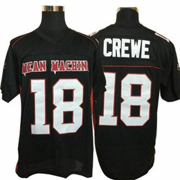 Football Yard Australia - men's The Longest Yard Jersey Adam Sandler #18 Paul Crewe Mean Machine Black Football Jerseys
