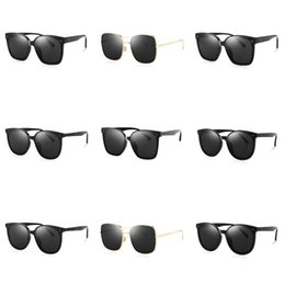 flat mirrors UK - Official Latest Sunglasses Double G Design 0152 Fashion Sunglasses Flat Mirror Frame Top Quality Simple Decorative Glasses#416