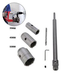 $enCountryForm.capitalKeyWord NZ - 30 40 50mm SDS Plus Shank Carbide Tip Hole Saw Drill Bit + Shaft Cutter Wall Drill Brick Stone Concrete Cement with Wrench