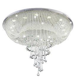 Decke Lichter Decke Lampe Für Foyer Led Licht Led Decke Licht Led E14 Postmodernen Eisen Kristall Stoff Chrome Led Lampe