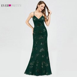 Discount elegant shiny long dress - Elegant Evening Dresses Long V-Neck Sequined Mermaid Sexy Backless Party Dresses 2019 Elegant Shiny Formal EB07822