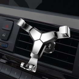 Wholesale Aluminium Alloy Gravity Bracket Universal Car Style Phone Holder Support Air Vent For Xiaomi Huawei Mobile Phone GPS Mount Stand