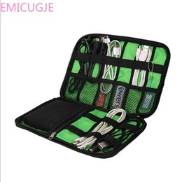 Discount fabric phone cases - Case for Electronic Accessories Hard Drive Storage Bags Portable Travel Zipper USB Cable Bag Organizer Black Nylon Phone