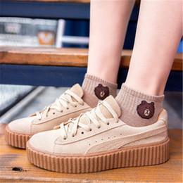 Cotton Cart NZ - Shallow Mouth Summer Slim Short Cylinder Girl in Japanese Pure Colors Summer 2019 Thin Smile Face Boat Socks Female Cotton Embroidery Cart