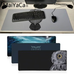 $enCountryForm.capitalKeyWord NZ - MaiYaCa New Simple owl pattern High Speed New Mousepad Large Gaming Mouse Pad Anti-slip Perfect Locking Computer desk mat