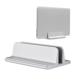 Save Laptops Australia - Aluminum Vertical Laptop Stand Desktop Space Saving Holder for MacBook Pro Notebook New design laptop stand Holder Adjustable Dock