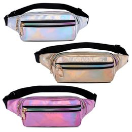 $enCountryForm.capitalKeyWord Australia - Laser Holographic Fanny Pack Waterproof Bum Bag Travel Hip Bags for Womens Girls
