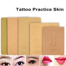 Venta al por mayor de Práctica de tatuaje de silicona Piel 3D Piel artificial suave para la cara Labio Ojo Labio Maquillaje permanente Suministro de tatuaje Principiantes