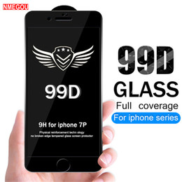 Iphone Glasses NZ - 99D Tempered Glass Protective Film For iphone XS Max XR X Glass iphone 7 8 Plus Screen Protector Glass On iphone 6 6S