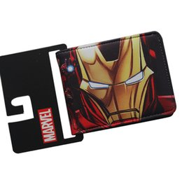 Marvels wallet online shopping - Marvel Comic Personality Men Wallets Designer Drop Shipping Boys Billeteras Dollars Price Bifold Trifold Short PU Purse