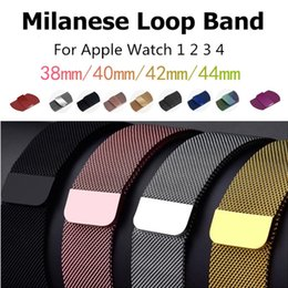 Wrist For Watches Australia - Milanese Loop for Apple Watch 4 40mm 44mm Stainless Steel Mesh Bracelet Strap Wrist Watchband for iwatch Series 4 3 2 38mm 42mm