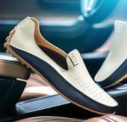 new trend men fashion shoes 2019 - 2019 spring summer new fashion men slip-on leather casual shoes trend shoes loafers Driving cheap new trend men fashion