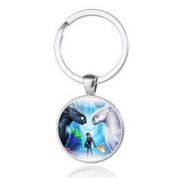 Big Keys Plastic Australia - How To Train Your Dragon 3 Keychain Toothless Night Fury Animal Pendant Key Chain New Style key holder Fashion Jewelry
