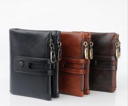 Mens Credit Card Australia - Wholesale mens purse designer classic men leather wallest famous genuine leather credit card holder bank card holder 3 colors
