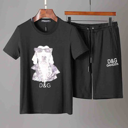 Petal Suits Australia - Manufacturers selling men's sportswear Designer Short sleeve suits Brand Fashion Sweatshirts Letter Sports Suit Running suit