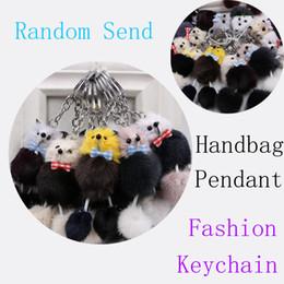 Random Key Australia - Free DHL Pompoms Fox Fur Fluffy Poodle Trinket Keyrings Lover Pendants Car Keys Ring Women Key Chains Pocket Bag Keychain Random Send M250F
