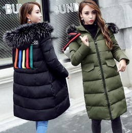$enCountryForm.capitalKeyWord Australia - Cotton women 2018 winter new long down jacket hot Europe large size thick coat large fur collar cotton clothes