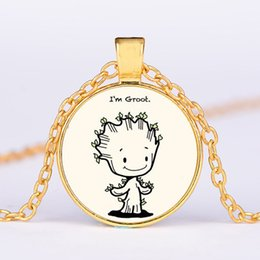 $enCountryForm.capitalKeyWord Australia - European and American film and television characters jewelry Galaxy Guard Groot tree baby Gruitt pattern pendant necklace can be customized