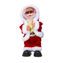 $enCountryForm.capitalKeyWord NZ - Electric Santa Claus Doll Dancing Singing Music Toy Cute Christmas Plush Doll