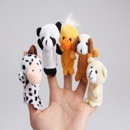 cute puppets UK - Hot Sa le Lovely Cute 10Pcs a Set Baby Children Kids Plush Animal Finger Biological Puppets Play Learn Story Telling Tale Dolls