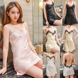 9d54feaeeff2 Lencería sexy de verano para mujer Vestido de camisón de camisón de encaje para  mujer Ropa de dormir camisón