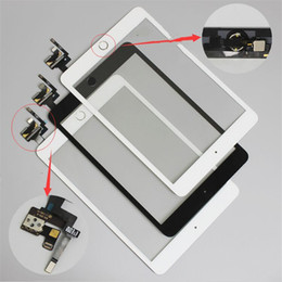 Touch Ipad Mini Ic Connector Australia - High quality Touch Screen Digitizer For iPad Mini 3 A1599 A1600 A1601 TP IC Connector with Home Button and Adhesive Front Glass Replacement