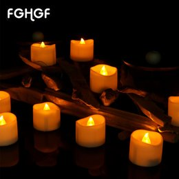 Decorations For Tea Party Australia - Battery Operated LED Candles for Home Decoration Tea Lights Candles Wedding Hotel Parties Burning time over 60 hours 12 24Pcs