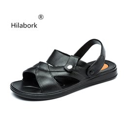 $enCountryForm.capitalKeyWord NZ - Hilabork Adult 2019 summer men's sandals breathable fashion dual-use slippers youth wear non-slip leather casual beach sandals