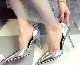 cat pumps NZ - High Heels 2019 New Pointed Head Hollow Out Stiletto Sandals Sexy Professional OL Single Shoe Cat Heels