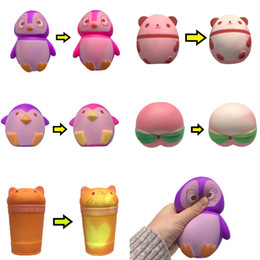 $enCountryForm.capitalKeyWord UK - Kids Squishy Animal Fruit Big Squishies Penguin Peach Panda Bear Cup Temperature Changes Color Slow Rising Squeeze Decompression Toys