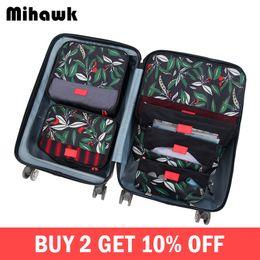 $enCountryForm.capitalKeyWord Australia - Mihawk 6Pcs set Packing Cube Travel Bags Portable Large Capacity Clothing Sorting Organizer Luggage Accessories Supplies