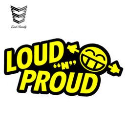 $enCountryForm.capitalKeyWord Australia - wholesale 20pcs lot Car Styling LOUD N PROUD Sticker Decal Vinyl Bass Stereo Audio Subwoofer Dub JDM Noisy Rs car Sticker 13cm X 6.5cm