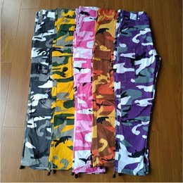 camouflage pants fashion NZ - Women Camouflage Fashion Pantalon Femme Trouser Sweatpants Jogger Cotton Streetwear Camo Pants Hip Hop Harem Cargo Pant C19040801