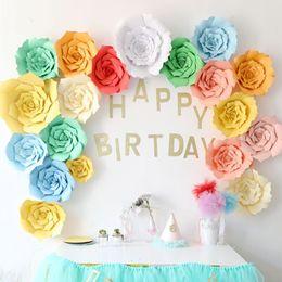 $enCountryForm.capitalKeyWord Australia - 20cm DIY Paper Flower Backdrop Decoration Wedding Birthday Party Wall Decorative Flower Dessert Bar Decor Artificial Flower