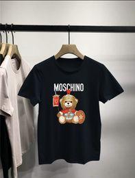 Wholesale swim shirts women for sale – plus size mens designer swim shorts Men Women Paris Print Short Sleeves Fashion Mens T Shirt Black White Burbèrry
