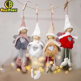 Diy girls room Decor online shopping - 1Pc Angel Doll Christmas Hanging Decor New Year Children Gifts Christmas Tree Hanging Pendant Girl Room Decor DIY Party Supply