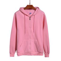 Hoodie Hoodies Skate NZ - High Quality New Pink black grey red Hip Hop Street Sweatshirt Skate Male female Pullover Men's Zipper Hoodie C19041701