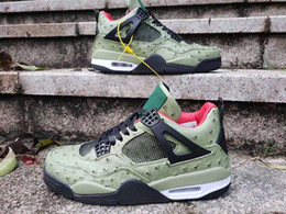 $enCountryForm.capitalKeyWord Australia - Men Dernières Travis X 4 Houston Green Basketball Shoes 4s Cactus Jack ostrich veins designer Sneakers with Box