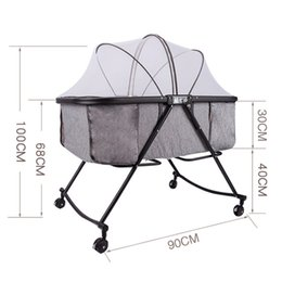 819 Portable Baby chuang ke zhe die Newborn CHILDREN'S Bed Cradle BB Bed Bassinet Cradle Lightweight Baby in on Sale