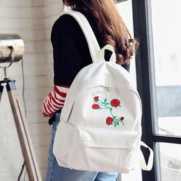 478e30e6c144 2019 Embroidery Rose Women Backpacks Fashion Canvas Lady Backpacks High  Quality Girls Satchel Travel School Bag Mochila