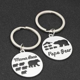 Keychains bears online shopping - Creative Mama Bear Letter Keychain Fashion Papa Bear Metal Key Rings Family Alloy Key Holder Couple Jewelry TTA1177