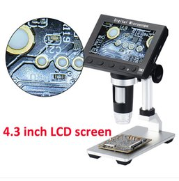 $enCountryForm.capitalKeyWord Australia - 4.3 inch LCD 1000X 8 LED Digital Microscope Camera 1080P endescope 5MP HD Magnifier Camera with Metal Stand