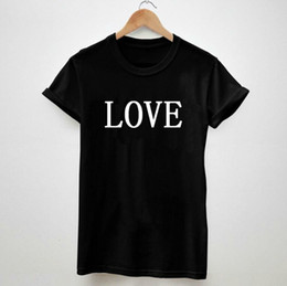 best white t shirt women NZ - Love Letters Print Tshirt For Men Women Cotton Casual Shirt White Top Tees Big Size S-xxxl Drop Ship - T Shirts For Women Best Sell