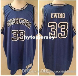 $enCountryForm.capitalKeyWord Australia - # 33 Patrick Ewing Georgetown Hoyas 1983 Basketball Jerseys Blue White Embroidery Stitched Custom Any Name And Number Jersey NCAA