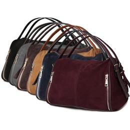 $enCountryForm.capitalKeyWord UK - Nico Louise Women Real Split Suede Leather Boston Bag,Original Design Lady Shoulder Traveling Doctor Handbag Top-handle Bags Sac