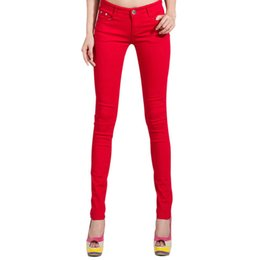 $enCountryForm.capitalKeyWord Australia - Pants Women's Women Candy Color Pencil Pants Trousers Women Jeans Ladies Elastic Stretch Skinny Pants Plus Size Pantalon Femme