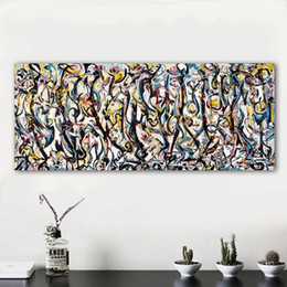 "$enCountryForm.capitalKeyWord Australia - Jackson Pollock ""Mural"" 1943 Handpainted & HD Print Modern Abstract Graffiti Art Oil Painting Home Decor On Canvas High Quality jk12.1.44"